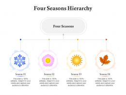 Four Seasons Hierarchy Infographic Template