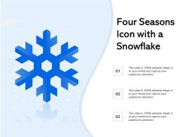 Four Seasons Icon With A Snowflake