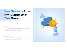 Four Seasons Icon With Clouds And Rain Drop