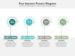 Four Seasons Process Diagram Infographic Template