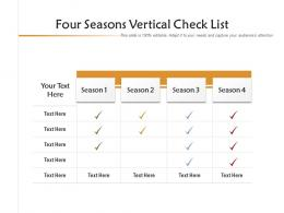 Four Seasons Vertical Check List Infographic Template