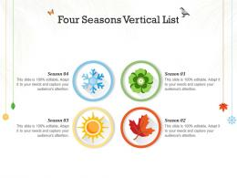 Four Seasons Vertical List Infographic Template