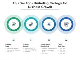 Four Sections Illustrating Strategy For Business Growth
