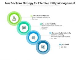 Four Sections Strategy For Effective Utility Management