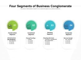 Four Segments Of Business Conglomerate