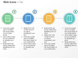 Four Segments One Page Five Tags Two Page Ppt Icons Graphics
