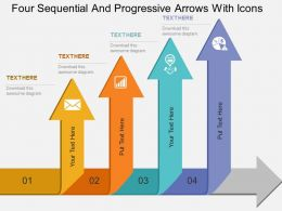four_sequential_and_progressive_arrows_with_icons_flat_powerpoint_design_Slide01