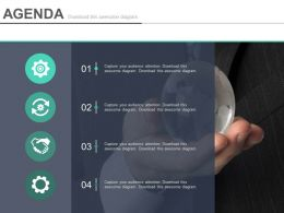 Four Sequential Tags For Business Agenda Icons Powerpoint Slides