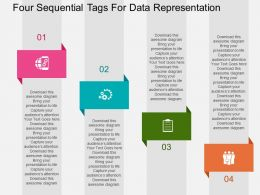 Four Sequential Tags For Data Representation Flat Powerpoint Design