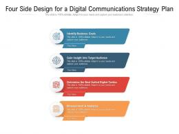 Four Side Design For A Digital Communications Strategy Plan
