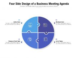 Four Side Design Of A Business Meeting Agenda