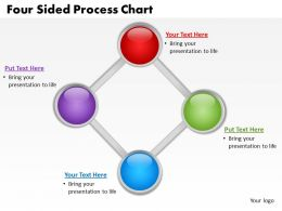 four sided process chart powerpoint diagrams presentation slides graphics 0912