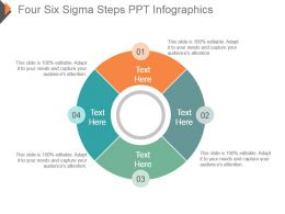 Four Six Sigma Steps Ppt Infographics