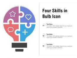 Four Skills In Bulb Icon