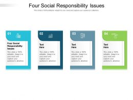 Four Social Responsibility Issues Ppt Powerpoint Presentation File Deck Cpb