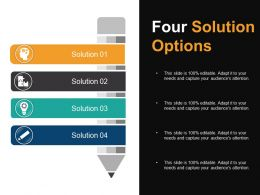 Four Solution Options Powerpoint Slide Themes