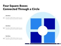 Four Square Boxes Connected Through A Circle