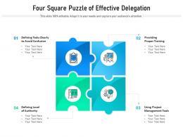 Four Square Puzzle Of Effective Delegation