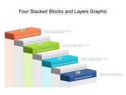 Four Stacked Blocks And Layers Graphic
