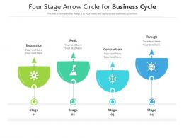 Four Stage Arrow Circle For Business Cycle