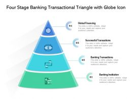 Four Stage Banking Transactional Triangle With Globe Icon