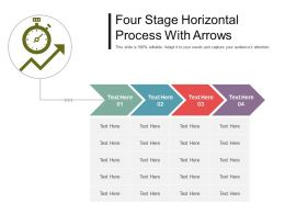 Four Stage Horizontal Process With Arrows