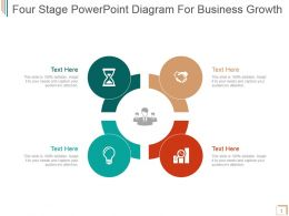 Four Stage Powerpoint Diagram For Business Growth