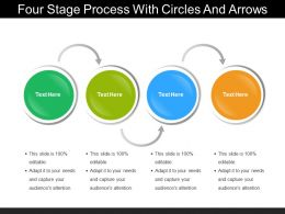 Four Stage Process With Circles And Arrows