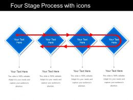 Four Stage Process With Icons
