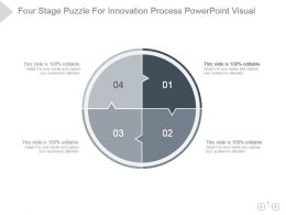 Four Stage Puzzle For Innovation Process Powerpoint Visual