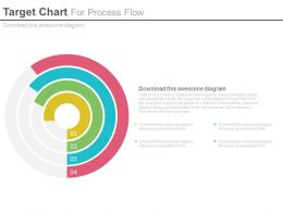 Four Stage Target Chart For Process Flow Powerpoint Slides