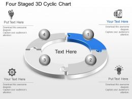 Four Staged 3d Cyclic Chart Powerpoint Template Slide