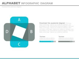 Four Staged Alphabet Infpographics Diagram Flat Powerpoint Design