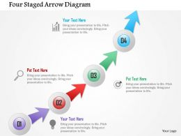 Four Staged Arrow Diagram Powerpoint Template