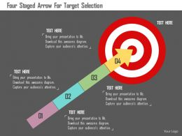 Four Staged Arrow For Target Selection Flat Powerpoint Design