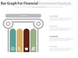 Four Staged Bar Graph For Financial Investment Analysis Powerpoint Slides