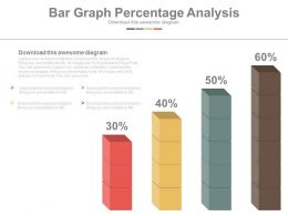 Four Staged Bar Graph Percentage Analysis Powerpoint Slides