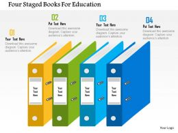 four_staged_books_for_education_flat_powerpoint_design_Slide01