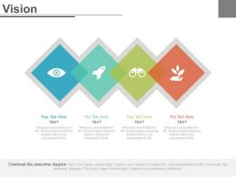 Four Staged Business Agenda For Vision Powerpoint Slides