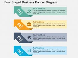 Four Staged Business Banner Diagram Flat Powerpoint Design