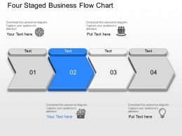 Four Staged Business Flow Chart Powerpoint Template Slide
