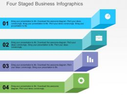 Four Staged Business Infographics Flat Powerpoint Design