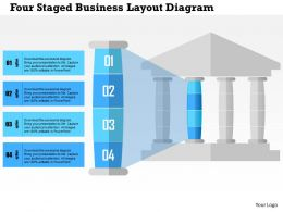 Four Staged Business Layout Diagram Flat Powerpoint Design