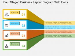 four_staged_business_layout_diagram_with_icons_flat_powerpoint_design_Slide01