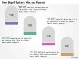 Four Staged Business Milestone Diagram Flat Powerpoint Design