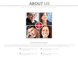 Four Staged Business Professional About Us Powerpoint Slides