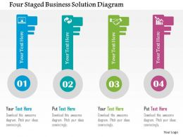 Four Staged Business Solution Diagram Flat Powerpoint Design