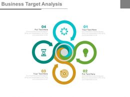 four_staged_business_target_analysis_flat_powerpoint_design_Slide01