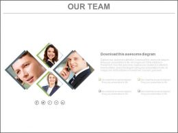 Four Staged Business Team For Communication Powerpoint Slides