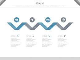 Four Staged Business Vision Analysis Diagram Powerpoint Slides